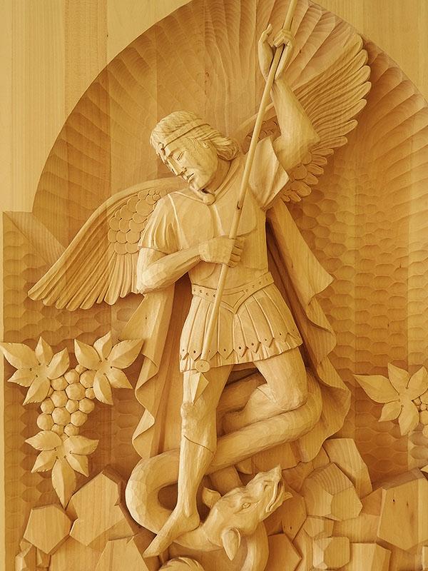 drevorezba sv. Michal
